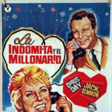 Cine: LA INDÓMITA Y EL MILLONARIO. JACK LEMMON-DORIS DAY. CARTEL ORIGINAL 1966. 70X100. Lote 77501577