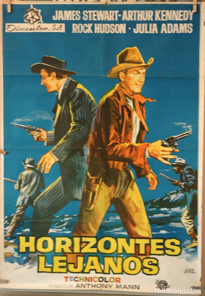 HORIZONTES LEJANOS. JAMES STEWART-ANTHONY MANN. CARTEL ORIGINAL 1966. 70X100 (Cine - Posters y Carteles - Westerns)