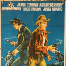 Cine: HORIZONTES LEJANOS. JAMES STEWART-ANTHONY MANN. CARTEL ORIGINAL 1966. 70X100. Lote 77536433