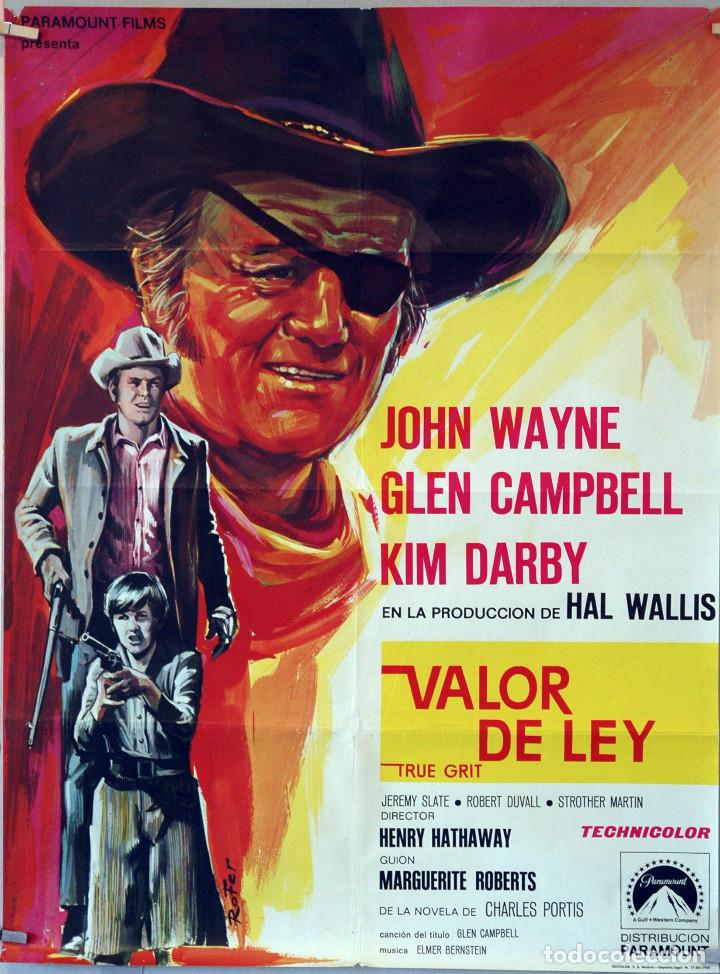 VALOR DE LEY. JOHN WAYNE. CARTEL ORIGINAL 1969. 70X100 (Cine - Posters y Carteles - Westerns)
