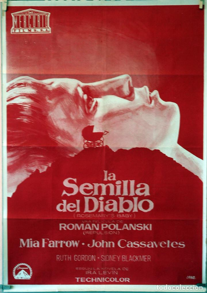 LA SEMILLA DEL DIABLO. ROMAN POLANSKI. MIA FARROW-JOHN CASSAVETES. CARTEL ORIGINAL 1968. 70X100 (Cine - Posters y Carteles - Terror)