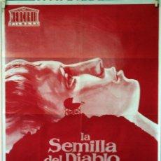 Cine: LA SEMILLA DEL DIABLO. ROMAN POLANSKI. MIA FARROW-JOHN CASSAVETES. CARTEL ORIGINAL 1968. 70X100. Lote 77541797