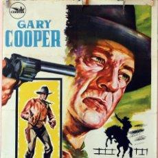Cine: HOMBRE DEL OESTE. GARY COOPER-ANTHONY MANN. CARTEL ORIGINAL 70X100. Lote 77813473