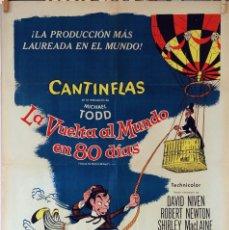 Cine: LA VUELTA AL MUNDO EN OCHENTA DÍAS. CANTINFLAS-DAVID NIVEN. CARTEL ORIGINAL 70X100. Lote 77819817