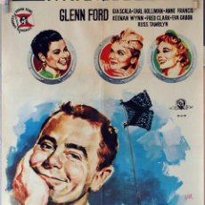 Cine: ¡VAYA MARINEROS!. GLENN FORD. CARTEL ORIGINAL 1959. 70X100. Lote 77821357