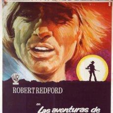 Cine: LAS AVENTURAS DE JEREMIAH JOHNSON. ROBERT REDFORD-SYDNEY POLLACK. CARTEL ORIGINAL 1972. 70X100. Lote 77898757