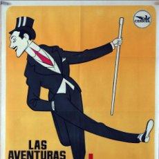 Cine: LAS AVENTURAS DE MAX LINDER. CARTEL ORIGINAL 1965. 70X100. Lote 77899085