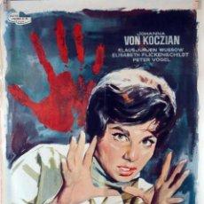 Cine: LOS CRÍMENES DE AGATA. CARTEL ORIGINAL 1962. 70X100. Lote 77902009