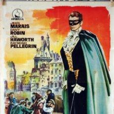 Cine: EL HAMPA DE PARÍS. JEAN MARAIS. CARTEL ORIGINAL 1963. 70X100. Lote 77902761