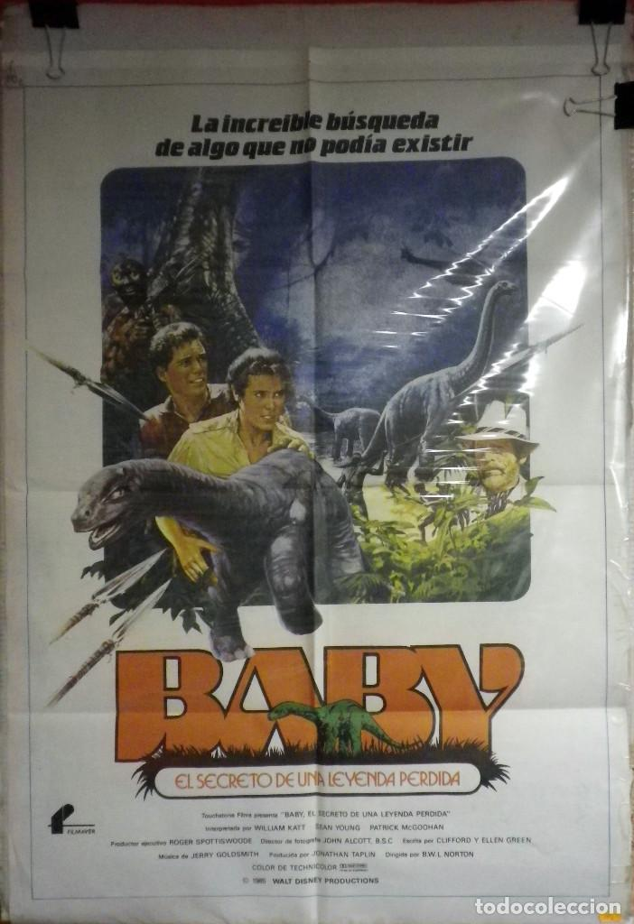 ORIGINALES DE CINE: BABY, EL SECRETO DE UNA LEYENDA PERDIDA - 1985 (Cine - Posters y Carteles - Aventura)