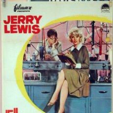 Cine: EL PROFESOR CHIFLADO. JERRY LEWIS-STELLA STEVENS. CARTEL ORIGINAL 1963. 70X100. Lote 78270589