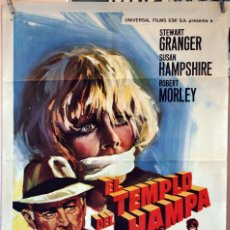 Cine: EL TEMPLO DEL HAMPA. STEWART GRANGER. CARTEL ORIGINAL 1969. 70X100. Lote 78271481