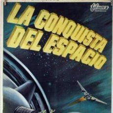 Cine: LA CONQUISTA DEL ESPACIO. BYRON HASKIN. CARTEL ORIGINAL 1964. 70X100. Lote 78405405