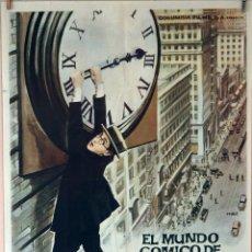 Cine: EL MUNDO CÓMICO DE HAROLD LLOYD. CARTEL ORIGINAL 1962. Lote 78406357