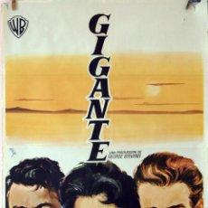 Cine: GIGANTE. JAMES DEAN-ROCK HUDSON-ELIZABETH TAYLOR. CARTEL ORIGINAL 1960. 100X70. Lote 78406929