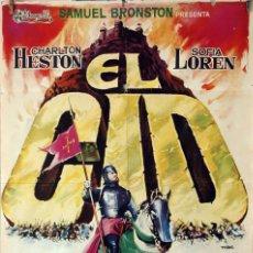 Cine: EL CID. CHARLTON HESTON-SOFÍA LOREN. CARTEL ORIGINAL 1961. 70X100. Lote 78407489