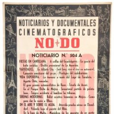 Cine: CARTEL DEL NOTICIARIO DOCUMENTAL NODO Nº 504 A (VER LOS ACONTECIMIENTOS) ORIGINAL. Lote 78627681