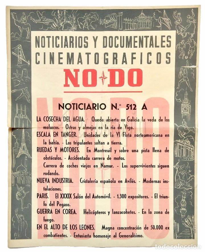 CARTEL DEL NOTICIARIO DOCUMENTAL NODO Nº 512 A (VER LOS ACONTECIMIENTOS) ORIGINAL (Cine - Posters y Carteles - Documentales)