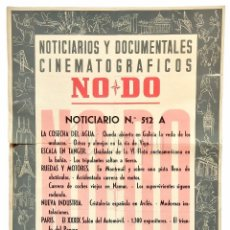 Cine: CARTEL DEL NOTICIARIO DOCUMENTAL NODO Nº 512 A (VER LOS ACONTECIMIENTOS) ORIGINAL. Lote 78629017