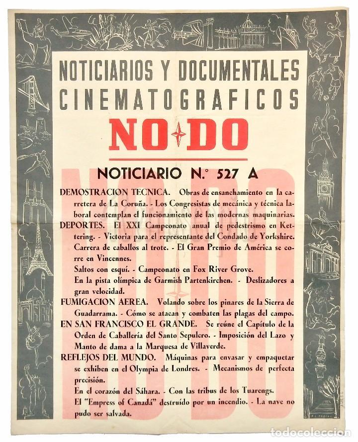 CARTEL DEL NOTICIARIO DOCUMENTAL NODO Nº 527 A (VER LOS ACONTECIMIENTOS) ORIGINAL (Cine - Posters y Carteles - Documentales)