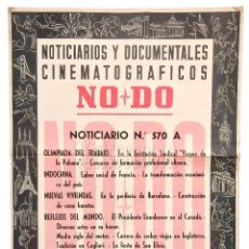 Cine: CARTEL DEL NOTICIARIO DOCUMENTAL NODO Nº 570 A (VER LOS ACONTECIMIENTOS) ORIGINAL. Lote 78631817
