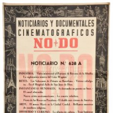 Cine: CARTEL DEL NOTICIARIO DOCUMENTAL NODO Nº 628 A (VER LOS ACONTECIMIENTOS) ORIGINAL. Lote 78632781