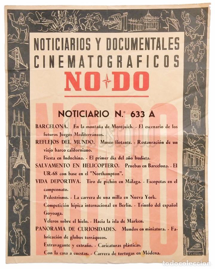 CARTEL DEL NOTICIARIO DOCUMENTAL NODO Nº 633 A (VER LOS ACONTECIMIENTOS) ORIGINAL (Cine - Posters y Carteles - Documentales)