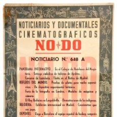 Cine: CARTEL DEL NOTICIARIO DOCUMENTAL NODO Nº 648 A (VER LOS ACONTECIMIENTOS) ORIGINAL. Lote 78634049