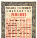 Cine: CARTEL DEL NOTICIARIO DOCUMENTAL NODO Nº 650 A (VER LOS ACONTECIMIENTOS) ORIGINAL. Lote 78634421