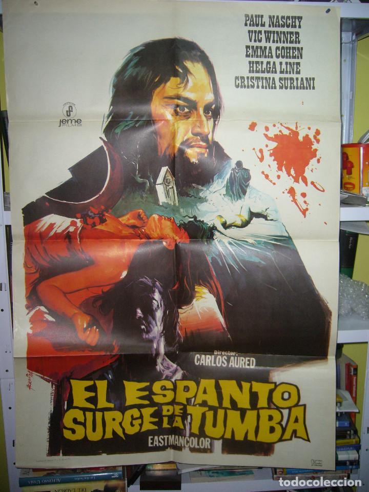 EL ESPANTO SURGE DE LA TUMBA PAUL NASCHY POSTER ORIGINAL 70X100 POSIBILIDAD DE BLU RAY (Cine - Posters y Carteles - Terror)