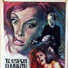 Cine: TE ESPERA LA MUERTE QUERIDA. CARTEL ORIGINAL 1967. 70X100. Lote 79038797