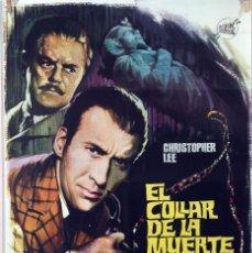 Cine: EL COLLAR DE LA MUERTE. CHRISTOPHER LEE-TERENCE FISHER. CARTEL ORIGINAL 1964. 70X100. Lote 79041909