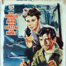 Cine: HÉROES DEL AIRE. ALFREDO MAYO-RAMON TORRADO. CARTEL ORIGINAL. 70X100. Lote 79042489