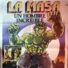 Cine: ORIGINALES DE CINE: LA MASA, UN HOMBRE INCREÍBLE - EL INCREÍBLE HULK. Lote 79111949