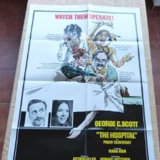 Cine: THE HOSPITAL MOVIE POSTER, ORIGINAL, FOLDED, ONE SHEET, YEAR 1971, STYLE B, LITHO IN U.S.A.. Lote 79341657