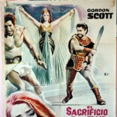 Cine: EL SACRIFICIO DE LAS ESCLAVAS. GORDON SCOTT. CARTEL ORIGINAL 1965. 70X100. Lote 79608973