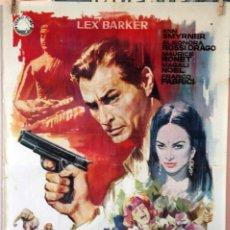 Cine: TEMPESTAD EN CEILÁN. LEX BARKER. CARTEL ORIGINAL 1964. 70X100. Lote 79609461