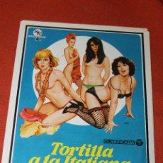 Cine: CARTEL CINE TORTILLA A LA ITALIANA, 1979. Lote 79815605