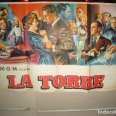 Cine: LA TORRE DE LOS AMBICIOSOS WILLIAM HOLDEN STANWYCK POSTER ORIGINAL 70X100 LITOGRAFIA DEL ESTRENO. Lote 79857405