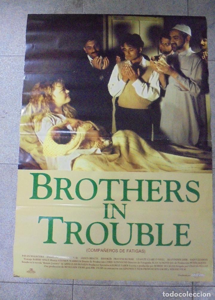 CARTEL DE CINE ORIGINAL. BROTHERS IN TROUBLE. 97,5 X 67 CM. (Cine- Posters y Carteles - Drama)