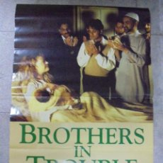 Cine: CARTEL DE CINE ORIGINAL. BROTHERS IN TROUBLE. 97,5 X 67 CM.. Lote 79858217