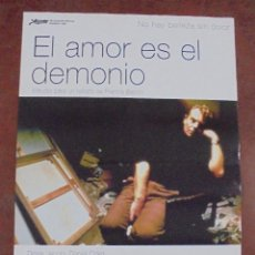 Cine: CARTEL DE CINE ORIGINAL. EL AMOR ES EL DEMONIO. 97,5 X 67 CM. Lote 79950369