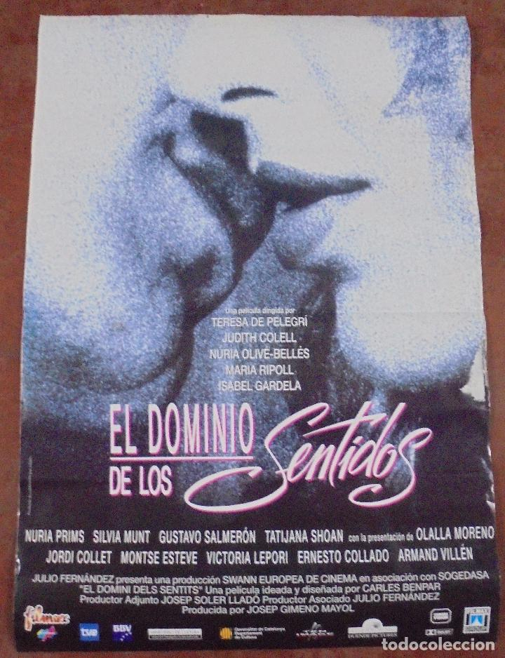 CARTEL DE CINE ORIGINAL. EL DOMINIO DE LOS SENTIDOS. 97,5 X 67 CM (Cine- Posters y Carteles - Drama)