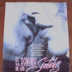 Cine: CARTEL DE CINE ORIGINAL. EL DOMINIO DE LOS SENTIDOS. 97,5 X 67 CM. Lote 79951505