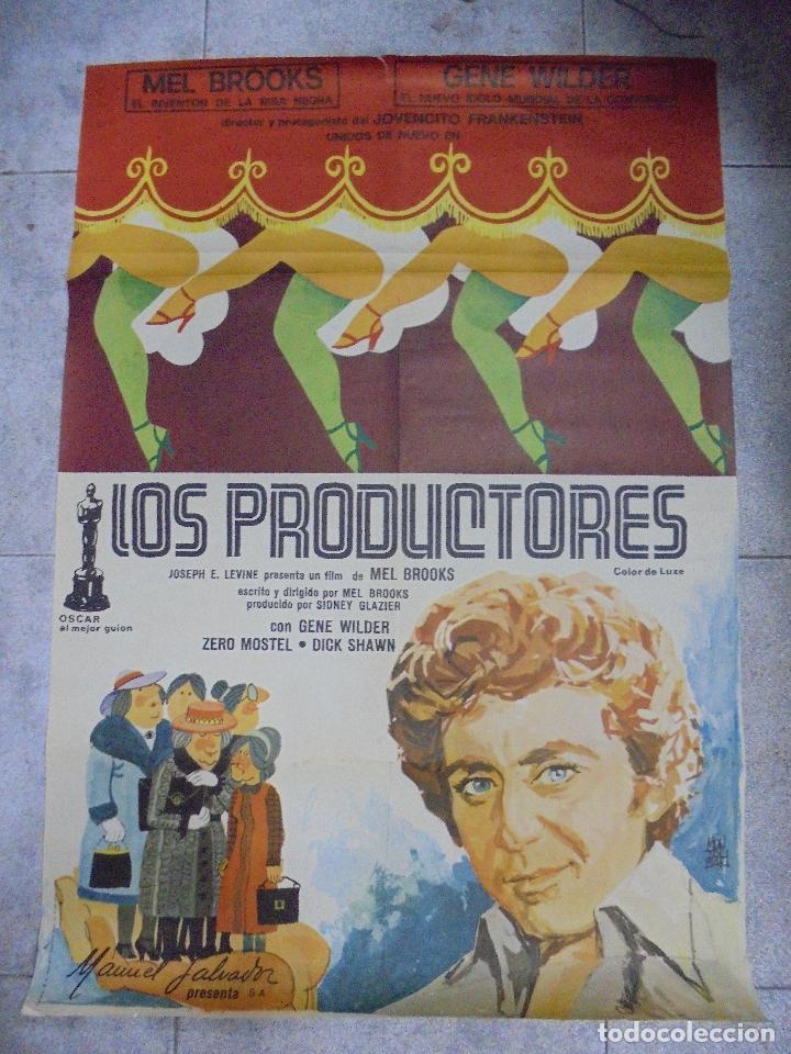 CARTEL DE CINE ORIGINAL. LOS PRODUCTORES. 97 X 67 CM (Cine - Posters y Carteles - Comedia)
