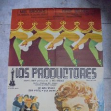 Cine: CARTEL DE CINE ORIGINAL. LOS PRODUCTORES. 97 X 67 CM. Lote 79958141
