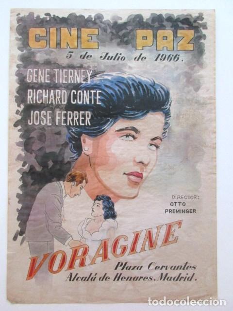 CARTEL VORAGINE, CINE PAZ, ALCALÁ DE HENARES, MADRID, AÑO 1966, TAMAÑO A3 (Cine - Posters y Carteles - Bélicas)