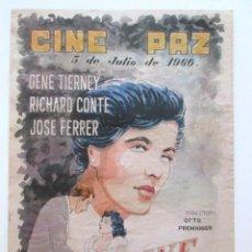 Cine: CARTEL VORAGINE, CINE PAZ, ALCALÁ DE HENARES, MADRID, AÑO 1966, TAMAÑO A3. Lote 80002481