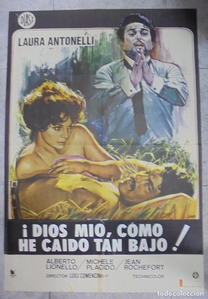 CARTEL DE CINE ORIGINAL. ¡DIOS MIO, CÓMO HE CAIDO TAN BAJO!. 97,5 X 67,5 CM (Cine- Posters y Carteles - Drama)
