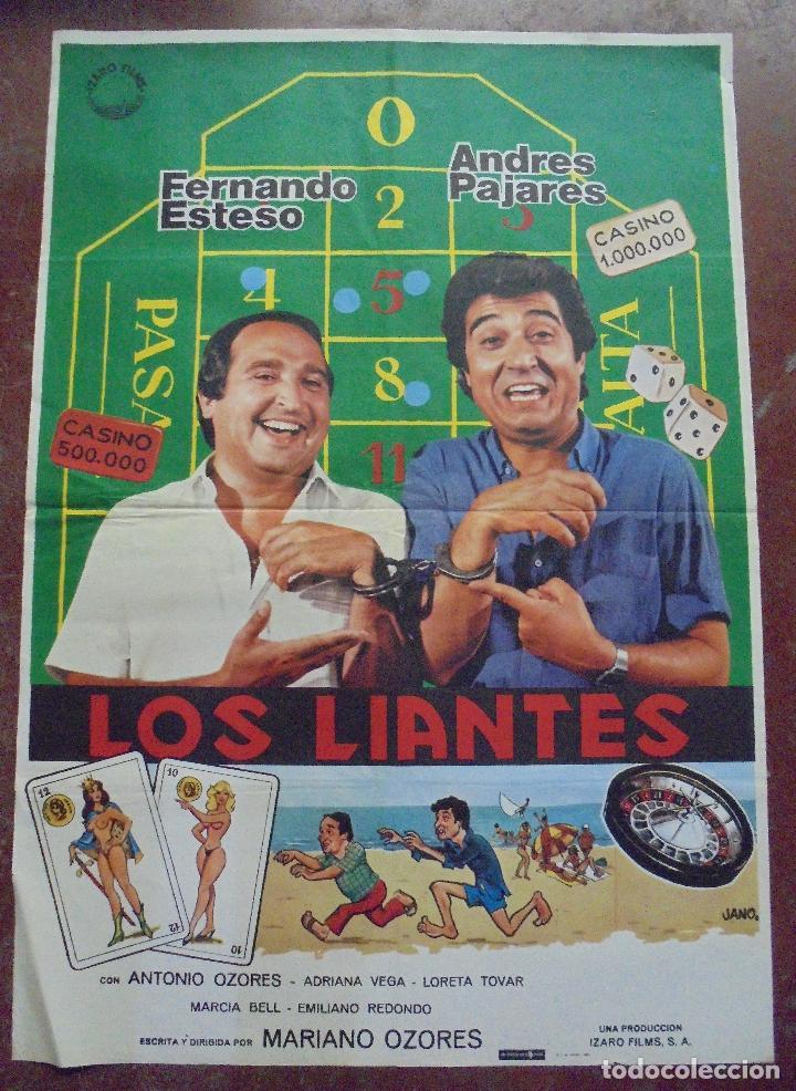 CARTEL DE CINE ORIGINAL. LOS LIANTES. 99,5 X 69,5 CM. 1981. (Cine - Posters y Carteles - Comedia)